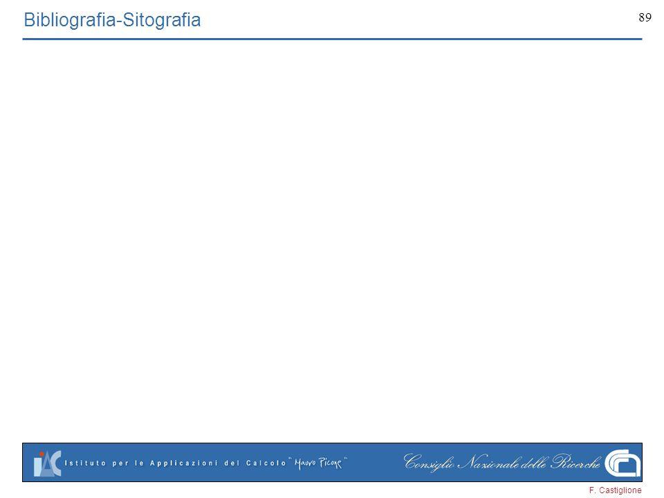 F. Castiglione 89 Bibliografia-Sitografia