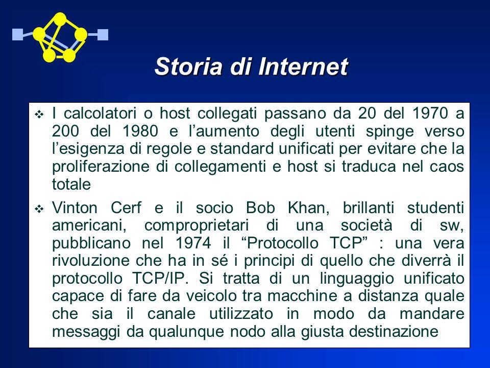 Storia di Internet Lo sviluppo di microcomputer ad opera della DE e AT&T permette di disporre di macchine alternative ai grossi e costosi sistemi IBM.