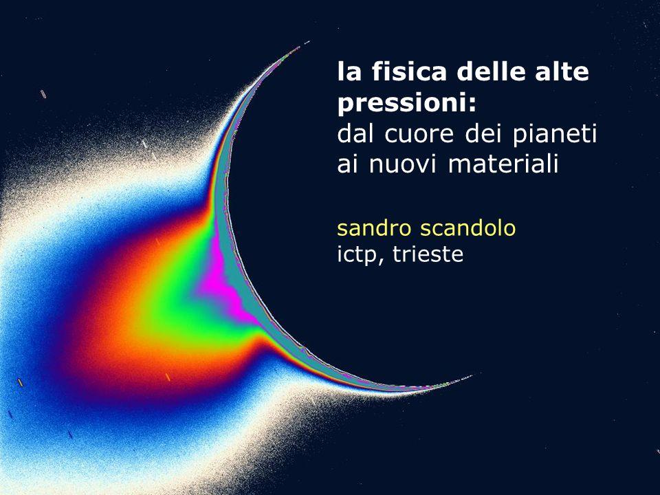 la fisica delle alte pressioni: dal cuore dei pianeti ai nuovi materiali sandro scandolo ictp, trieste
