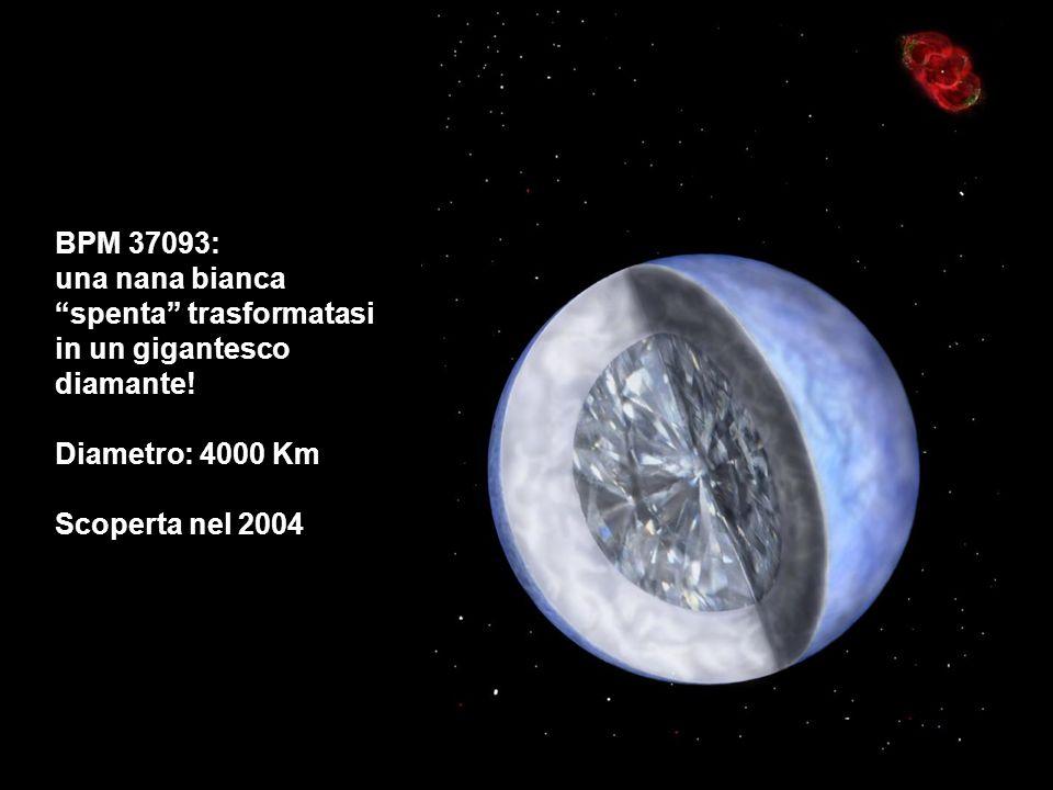 BPM 37093: una nana bianca spenta trasformatasi in un gigantesco diamante! Diametro: 4000 Km Scoperta nel 2004