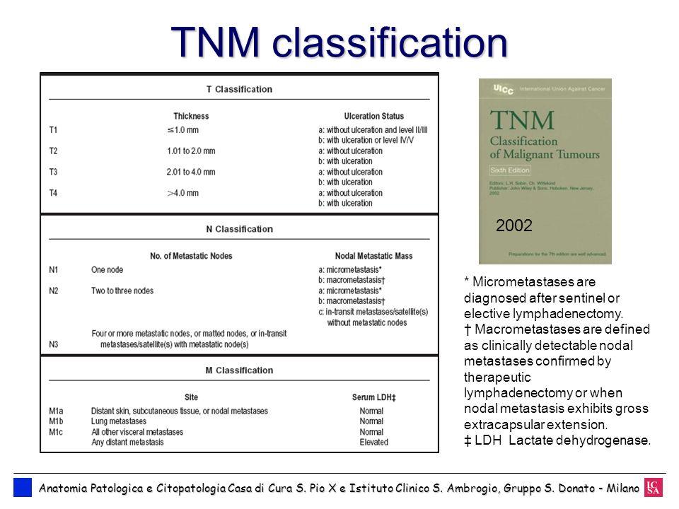TNM classification Anatomia Patologica e Citopatologia Casa di Cura S. Pio X e Istituto Clinico S. Ambrogio, Gruppo S. Donato - Milano Anatomia Patolo