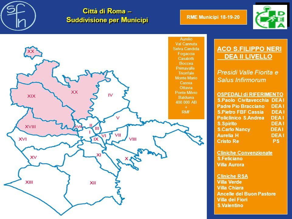 REGIONE LAZIO e Suddivisione ASL I nuovi insediamenti a Guidonia Regione Lazio Abitanti 6.200.000 Roma + Provincia Ab 4.200.000 Roma Ab 3.850.000 Lombardia Ab.