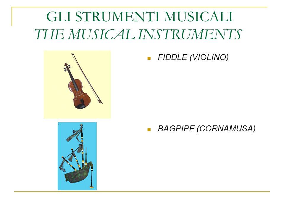 GLI STRUMENTI MUSICALI THE MUSICAL INSTRUMENTS FIDDLE (VIOLINO) BAGPIPE (CORNAMUSA)