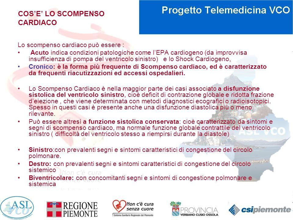 CAUSE DI SCOMPENSO CARDIACO Lo Scompenso Cardiaco è una Sindrome Clinica complessa che rappresenta il punto evolutivo finale di una serie di patologie cardiache, inizialmente anche molto diverse tra di loro dal punto di vista eziologico e fisiopatologico: Ipertensione arteriosa (è la prima causa di HF) Cardiopatia Ischemica Cardiomiopatie (dilatative, ipertrofica, restrittiva, aritmogena VDx), Cardiomiopatie secondarie.