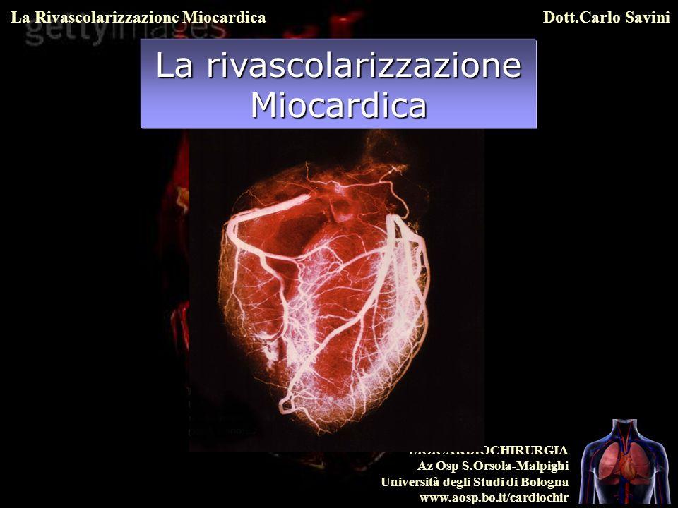 U.O.CARDIOCHIRURGIA Az Osp S.Orsola-Malpighi Università degli Studi di Bologna www.aosp.bo.it/cardiochir La Rivascolarizzazione MiocardicaDott.Carlo Savini CORO-TC