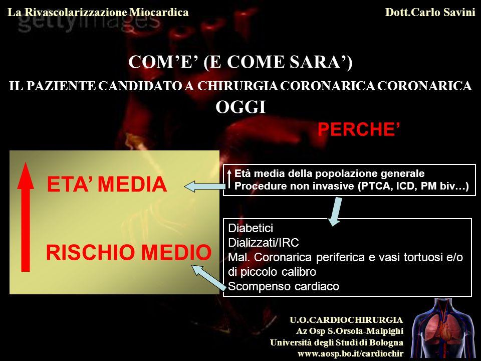 U.O.CARDIOCHIRURGIA Az Osp S.Orsola-Malpighi Università degli Studi di Bologna www.aosp.bo.it/cardiochir La Rivascolarizzazione MiocardicaDott.Carlo Savini 4.2.1.