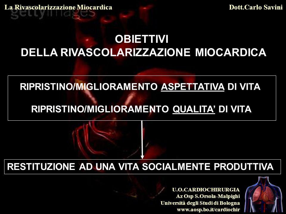 U.O.CARDIOCHIRURGIA Az Osp S.Orsola-Malpighi Università degli Studi di Bologna www.aosp.bo.it/cardiochir La Rivascolarizzazione MiocardicaDott.Carlo Savini Hlatky MA et al.