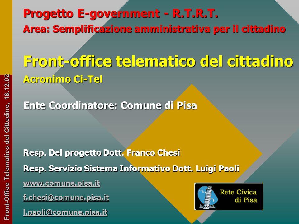 1 Progetto E-government - R.T.R.T.
