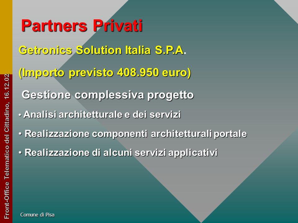 Partners Privati Getronics Solution Italia S.P.A Getronics Solution Italia S.P.A.