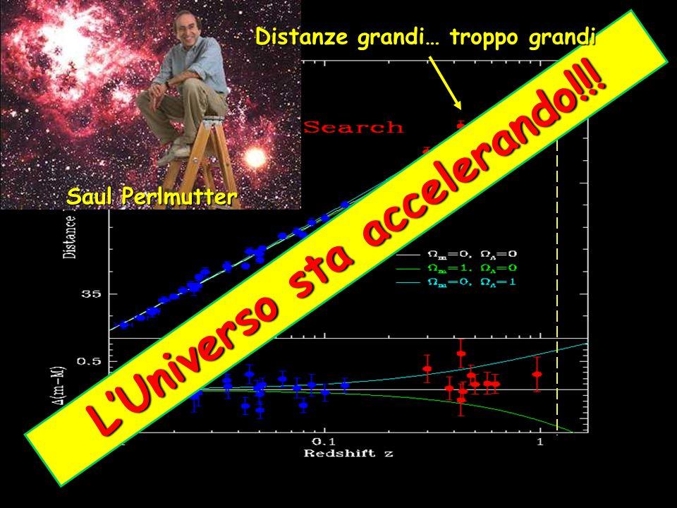 L U n i v e r s o s t a a c c e l e r a n d o ! ! ! Saul Perlmutter Distanze grandi… troppo grandi