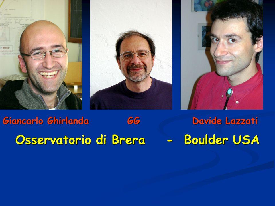 Giancarlo Ghirlanda GG Davide Lazzati Osservatorio di Brera - Boulder USA