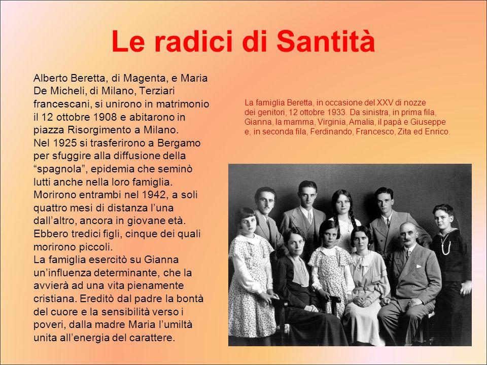 Alberto Beretta, di Magenta, e Maria De Micheli, di Milano, Terziari francescani, si unirono in matrimonio il 12 ottobre 1908 e abitarono in piazza Ri