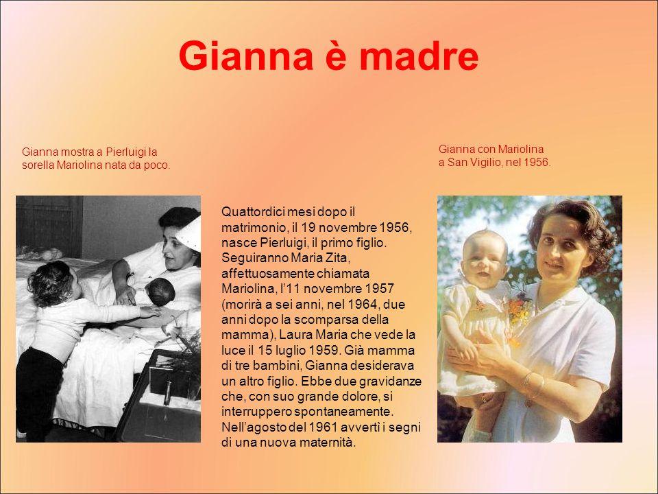 Quattordici mesi dopo il matrimonio, il 19 novembre 1956, nasce Pierluigi, il primo figlio. Seguiranno Maria Zita, affettuosamente chiamata Mariolina,