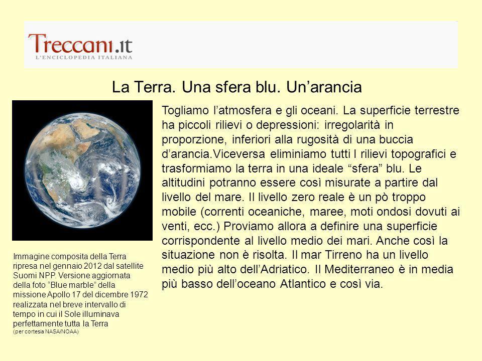 Un satellite per la misura di g Dal marzo 2009 il satellite GOCE( Gravity field and steady-state Ocean Circulation Explorer)ad una distanza media di 255 km dalla Terra misure le piccole variazioni della gravità tra punti della Terra distanti 1 metro luno dallaltro.