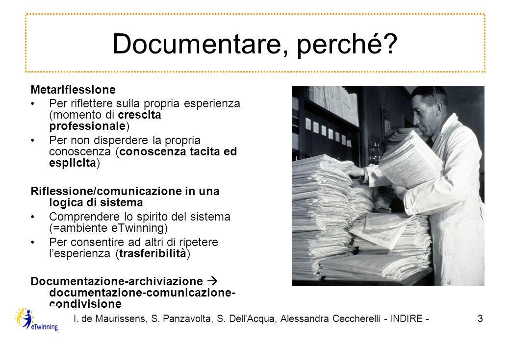 I.de Maurissens, S. Panzavolta, S. Dell Acqua, Alessandra Ceccherelli - INDIRE -14 Grazie.
