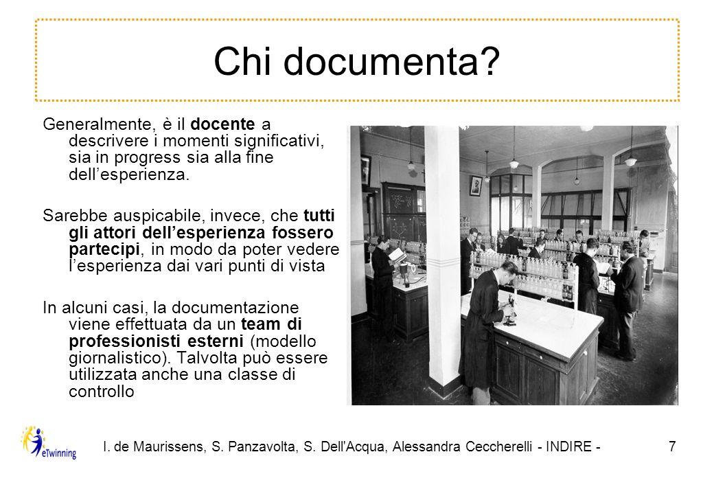 I. de Maurissens, S. Panzavolta, S. Dell Acqua, Alessandra Ceccherelli - INDIRE -7 Chi documenta.