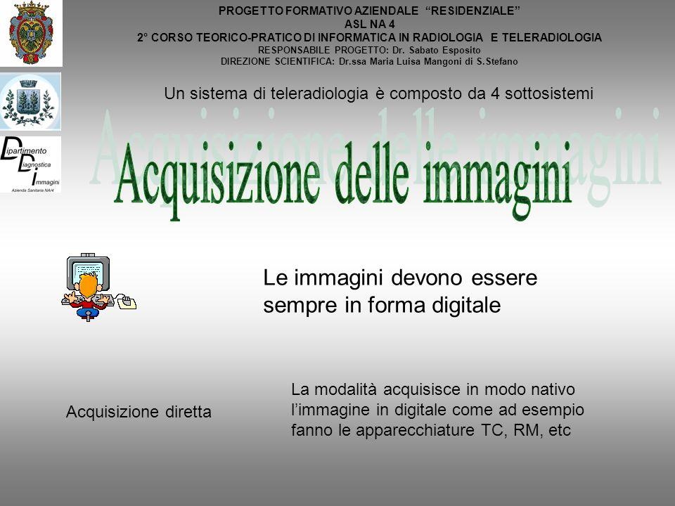 PROGETTO FORMATIVO AZIENDALE RESIDENZIALE ASL NA 4 2° CORSO TEORICO-PRATICO DI INFORMATICA IN RADIOLOGIA E TELERADIOLOGIA RESPONSABILE PROGETTO: Dr. S