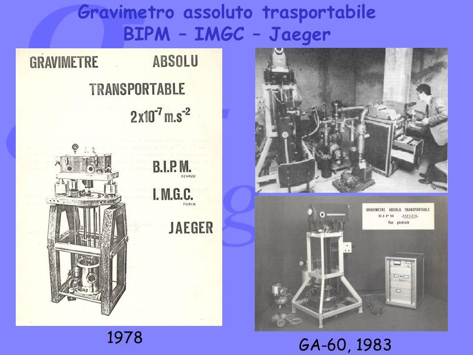 Gravimetro assoluto trasportabile BIPM – IMGC – Jaeger GA-60, 1983 1978