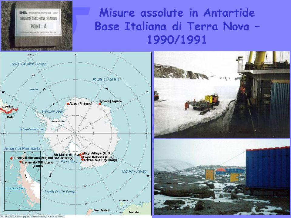 Misure assolute in Antartide Base Italiana di Terra Nova – 1990/1991