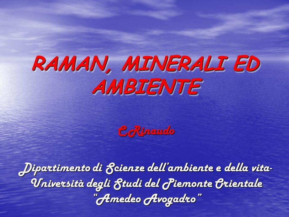 PRINCIPI DELLA SPETTROSCOPIA RAMAN 1928C.V. Raman Nel 1928 il fisico indiano C.