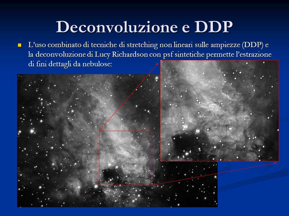 Deconvoluzione e DDP Luso combinato di tecniche di stretching non lineari sulle ampiezze (DDP) e la deconvoluzione di Lucy Richardson con psf sintetic