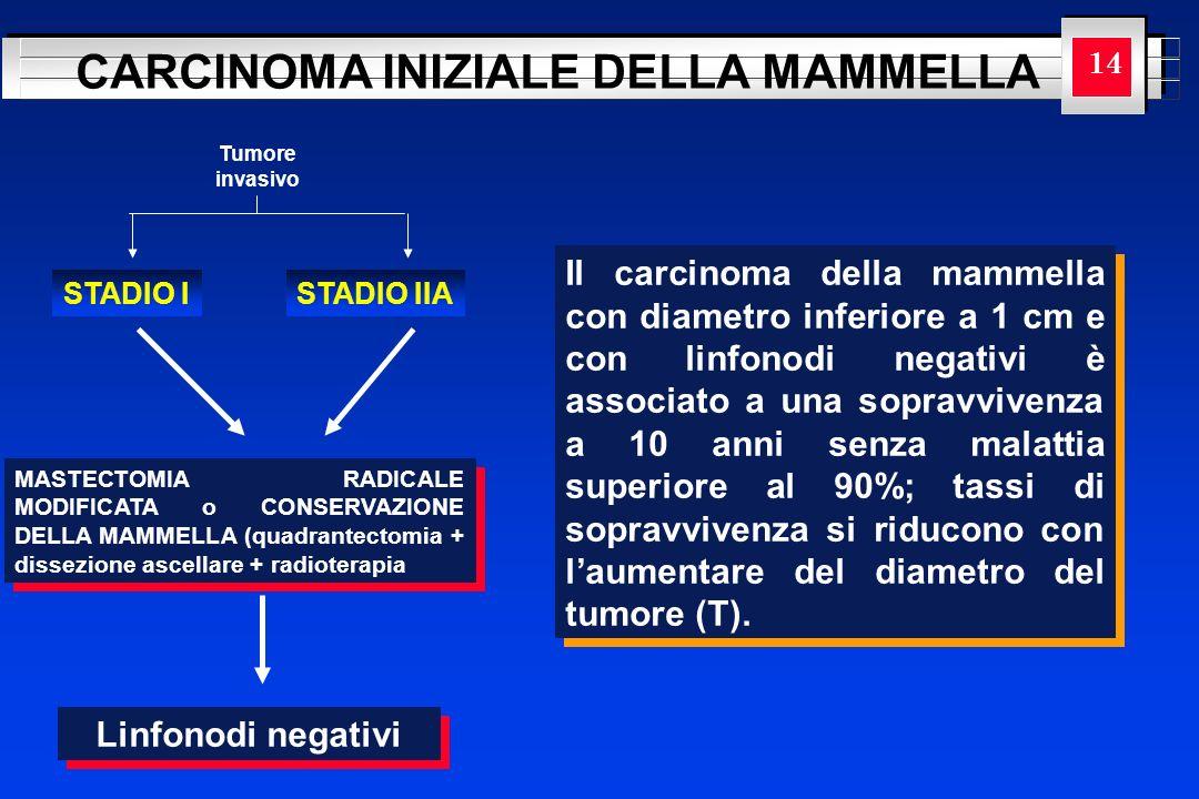 YOUR LOGO HERE CARCINOMA INIZIALE DELLA MAMMELLA Tumore invasivo STADIO ISTADIO IIA MASTECTOMIA RADICALE MODIFICATA o CONSERVAZIONE DELLA MAMMELLA (qu