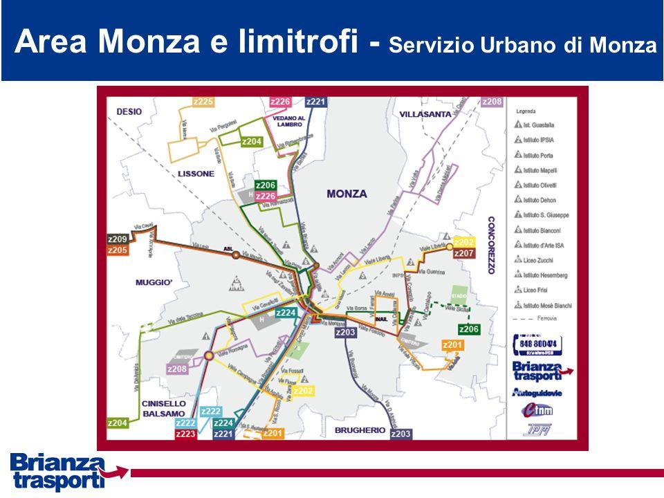 Area Monza e limitrofi - Servizio Urbano di Monza