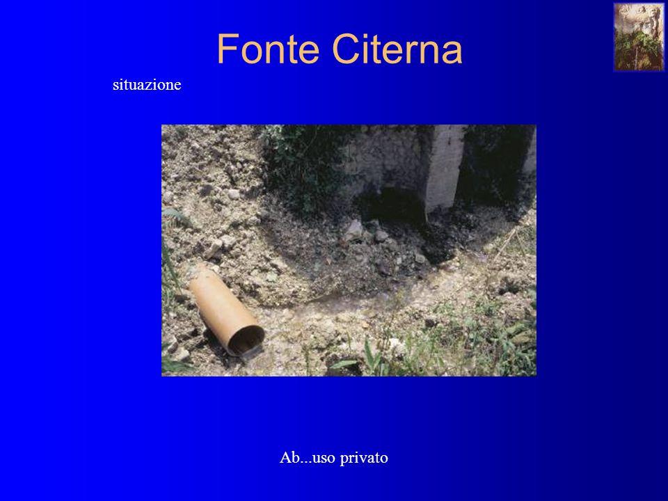 Fonte Citerna situazione Ab...uso privato