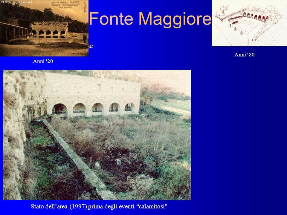 Fonte Maggiore Rione Fosse Stato dellarea (1997) prima degli eventi calamitosi Anni 20 Anni 80