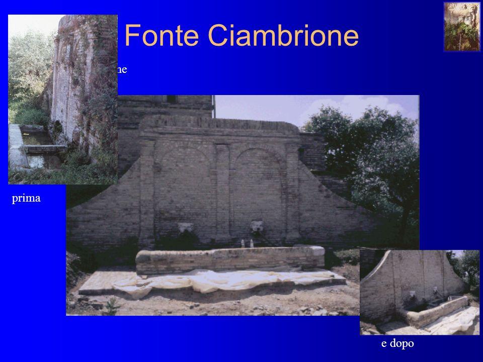Fonte Ciambrione situazione prima e dopo