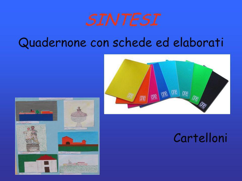 SINTESI Quadernone con schede ed elaborati Cartelloni