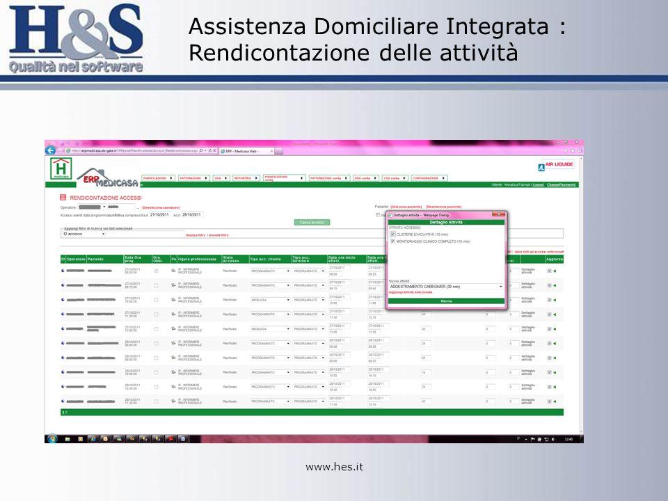 www.hes.it Assistenza Domiciliare Integrata : Rendicontazione delle attività