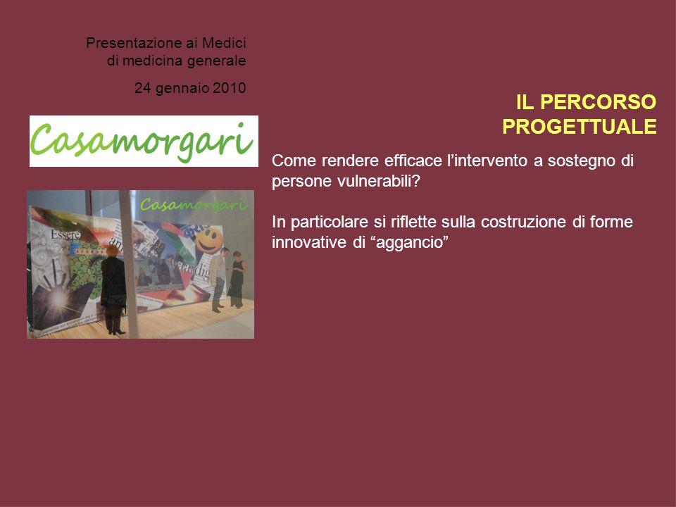 Presentazione ai Medici di medicina generale 24 gennaio 2010 Come rendere efficace lintervento a sostegno di persone vulnerabili? In particolare si ri