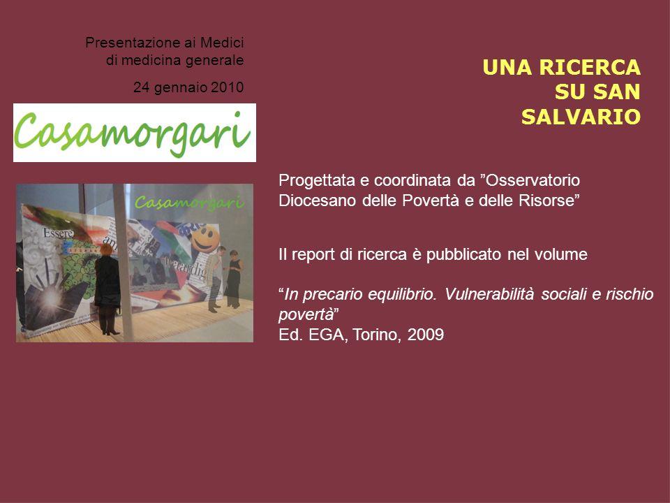 Casa Morgari uno spazio con finalità sociale Presentazione ai medici di medicina generale 24 gennaio 2010 Parrocchia Sacro Cuore di Maria Fraternità M
