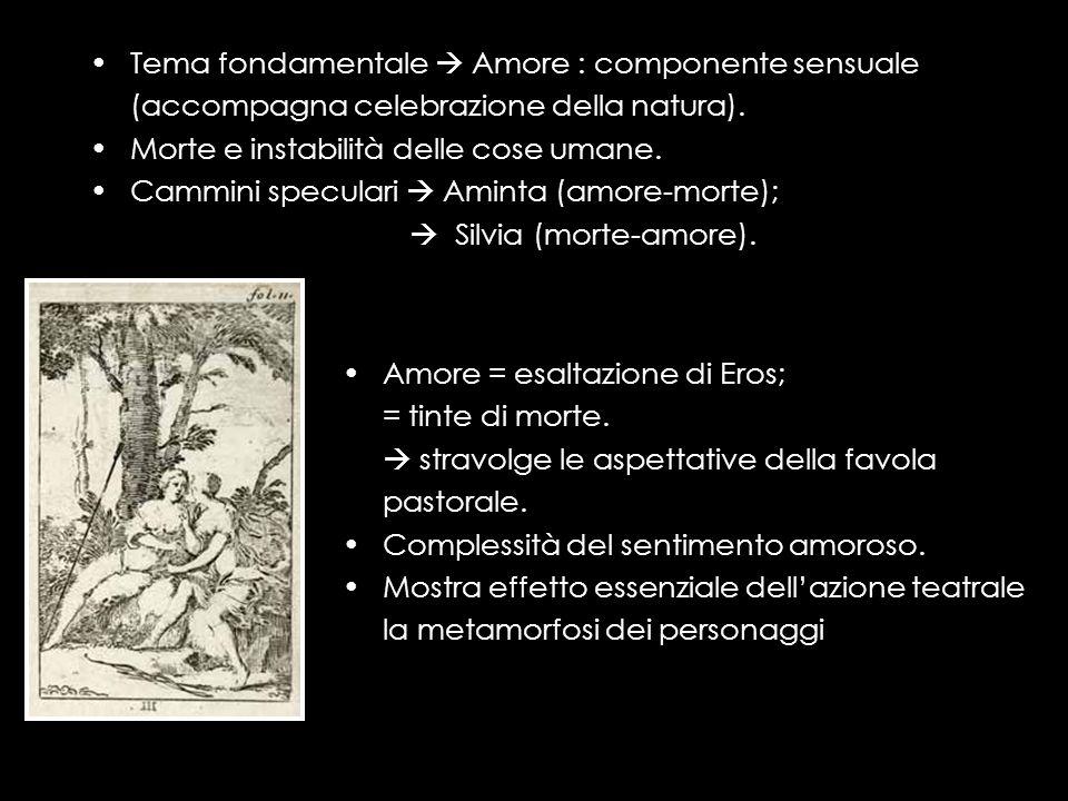 LAminta: la trama Prologo recitato da Amore: coordinate ideologiche dell opera: Aminta ama Silvia non è corrisposto.