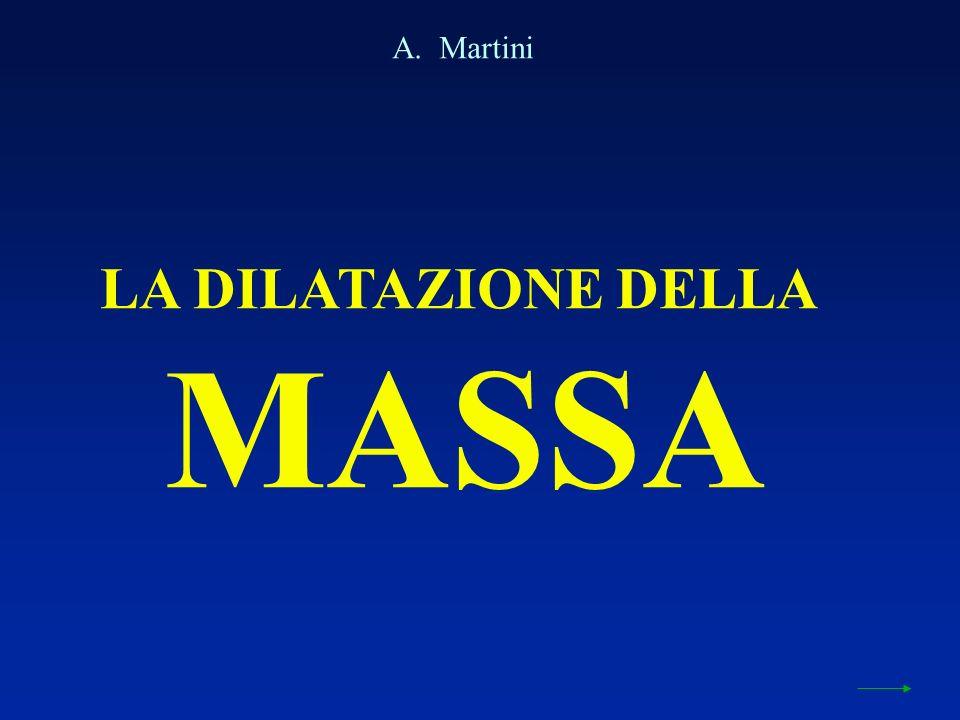 LA DILATAZIONE DELLA MASSA A. Martini