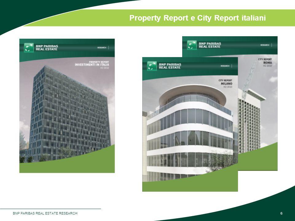 BNP PARIBAS REAL ESTATE RESEARCH6 Property Report e City Report italiani
