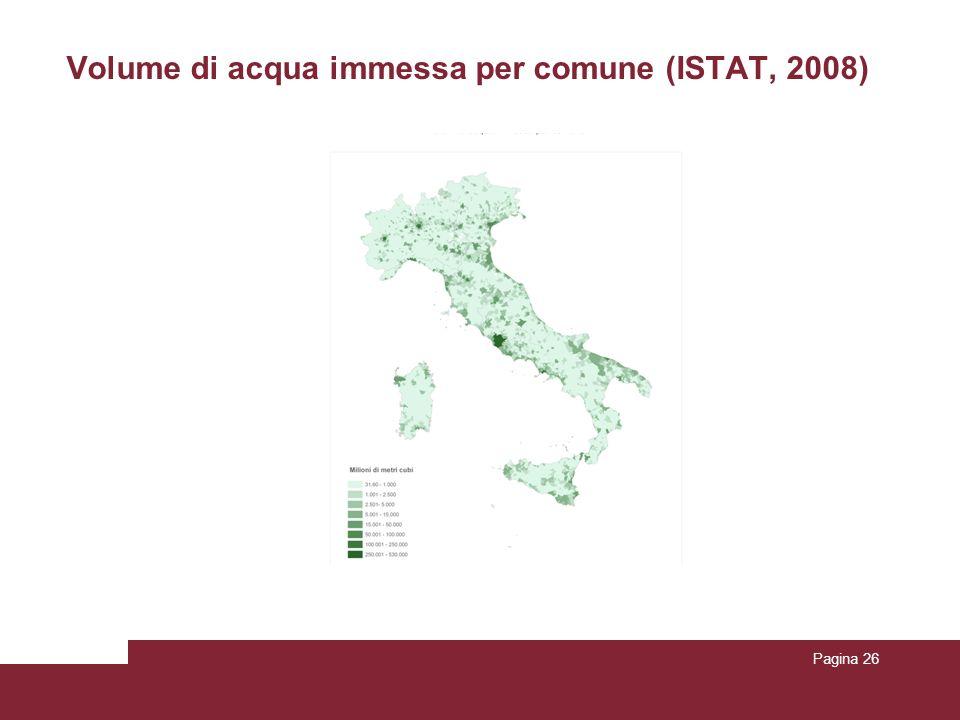 Volume di acqua immessa per comune (ISTAT, 2008) Pagina 26
