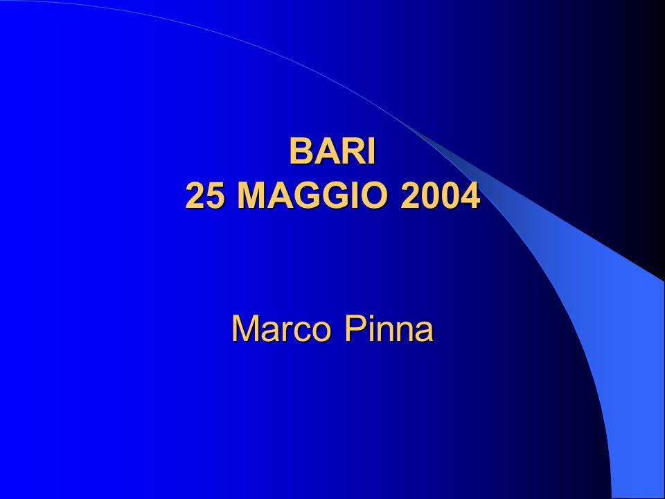 BARI 25 MAGGIO 2004 Marco Pinna