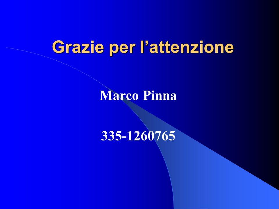 Grazie per lattenzione Marco Pinna 335-1260765