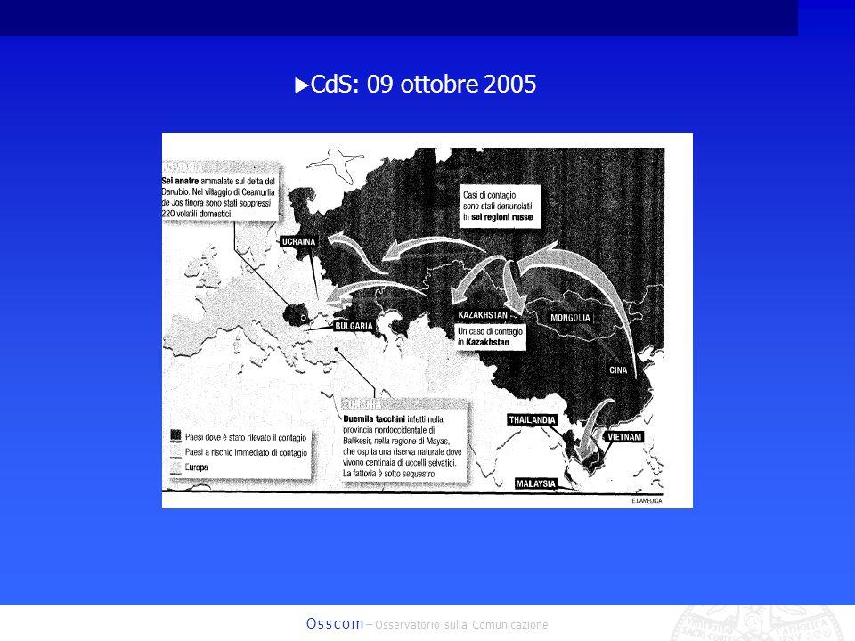 O s s c o m – Osservatorio sulla Comunicazione CdS: 09 ottobre 2005