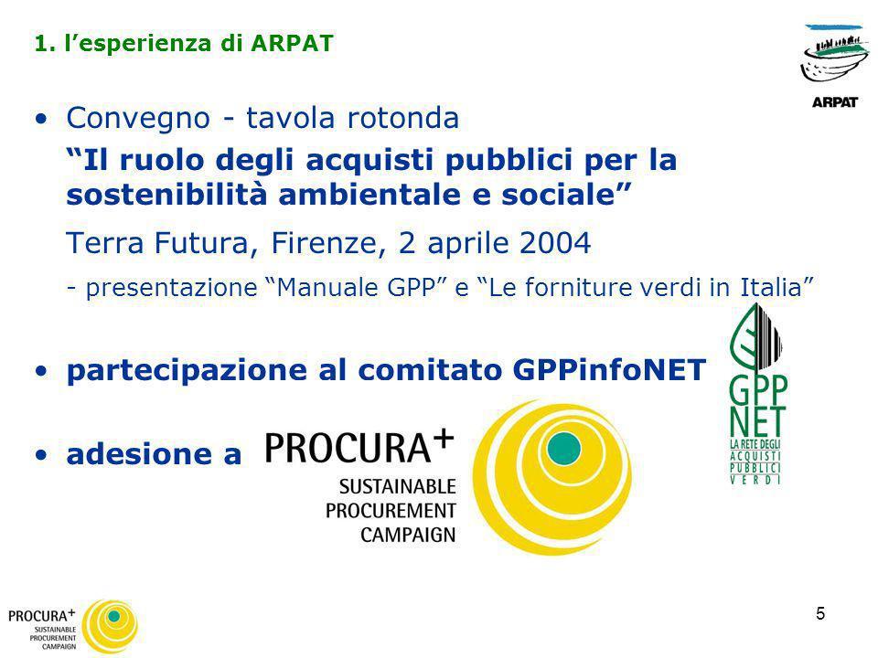 5 Convegno - tavola rotonda Il ruolo degli acquisti pubblici per la sostenibilità ambientale e sociale Terra Futura, Firenze, 2 aprile 2004 - presenta