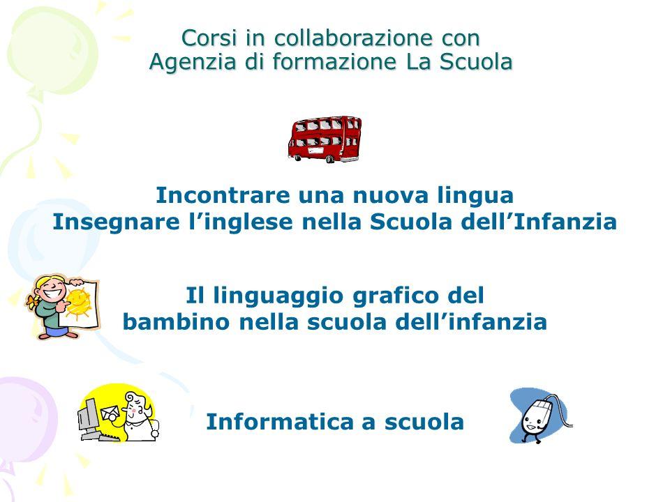 Corsi in collaborazione con Agenzia di formazione La Scuola Incontrare una nuova lingua Insegnare linglese nella Scuola dellInfanzia Il linguaggio gra