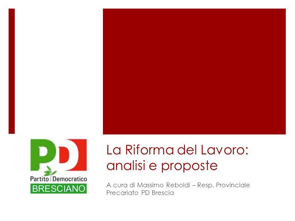 La Riforma del Lavoro: analisi e proposte A cura di Massimo Reboldi – Resp.