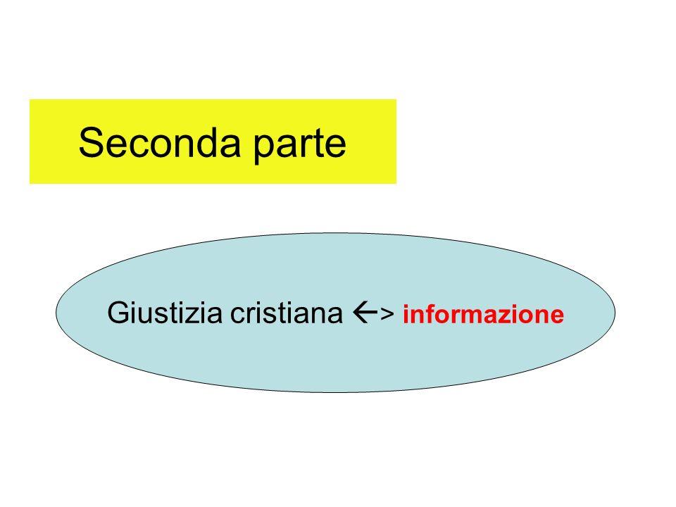 Seconda parte Giustizia cristiana > informazione