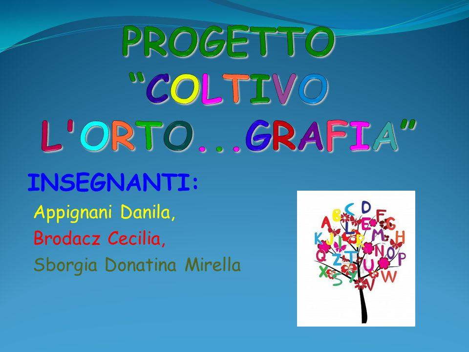 INSEGNANTI: Appignani Danila, Brodacz Cecilia, Sborgia Donatina Mirella