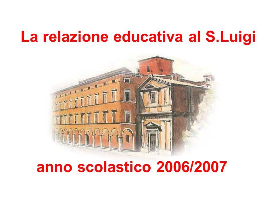 La relazione educativa al S.Luigi anno scolastico 2006/2007