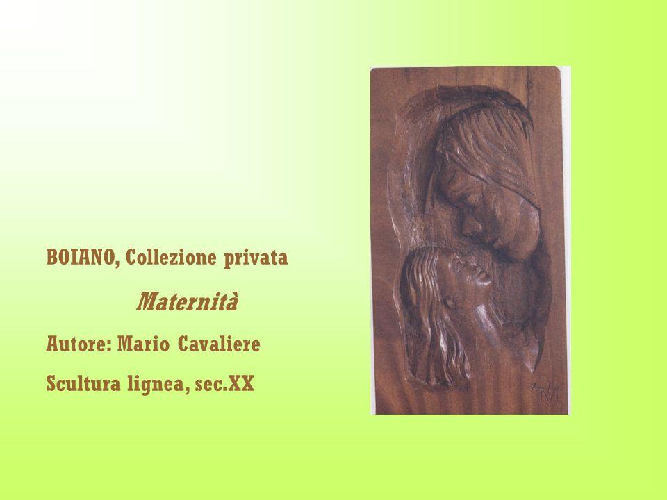 BOIANO, Collezione privata Maternità Autore: Mario Cavaliere Scultura lignea, sec.XX