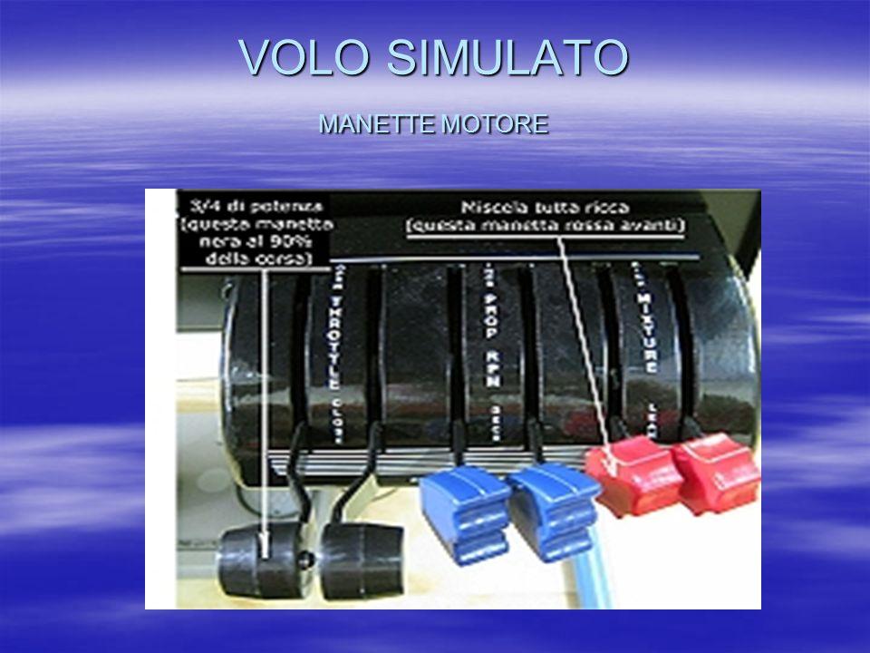 VOLO SIMULATO MANETTE MOTORE