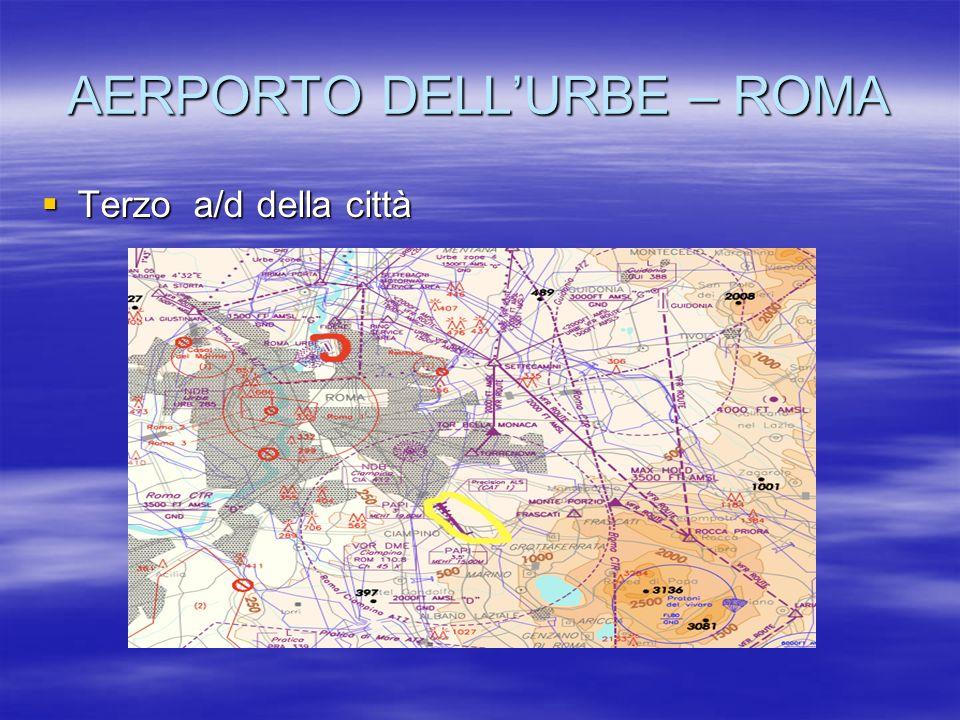 AERPORTO DELLURBE – ROMA Terzo a/d della città Terzo a/d della città